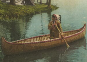 native american canoe