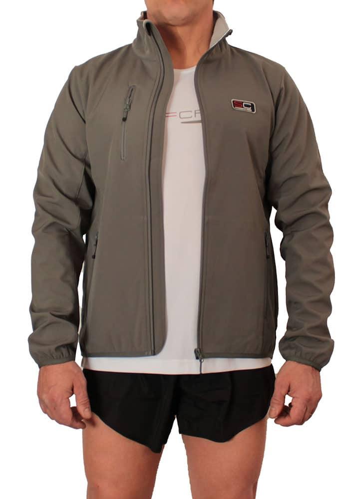 fronte-aperta-indossata-giacca-grigia